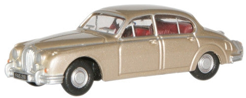 Oxford Diecast Opalescent Gold Jaguar MkII - 1:76 Scale