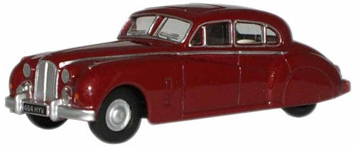 Oxford Diecast Claret Metallic (Queen Mother) Jaguar MkVIIM - 1:76 Sca