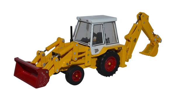Oxford Diecast JCB Backhoe Loader 1980s