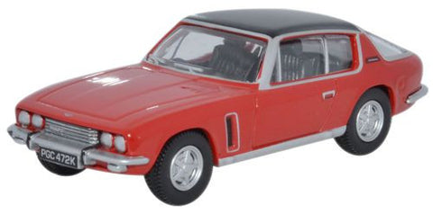 Oxford Diecast Jensen Interceptor Flag Red - 1:76 Scale