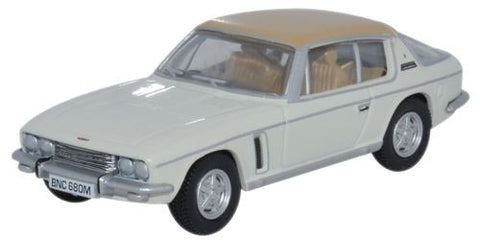 Oxford Diecast Jensen Interceptor Old English White/Tan - 1:76 Scale