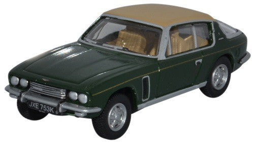 Oxford Diecast Jensen Interceptor Oakland Green and Tan