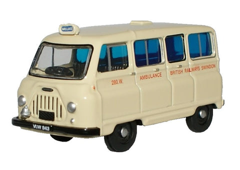 Oxford Diecast British Railways Morris J2 Ambulance - 1:76 Scale