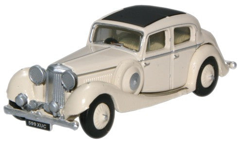 Oxford Diecast Cream Jaguar SS 2.5 Saloon - 1:76 Scale