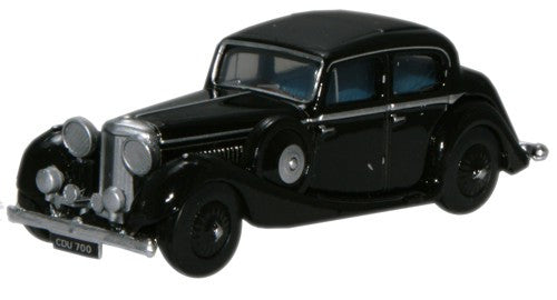 Oxford Diecast Black Jaguar SS 2.5 Saloon - 1:76 Scale