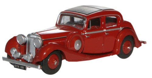 Oxford Diecast Maroon Jaguar SS 2.5 Saloon - 1:76 Scale