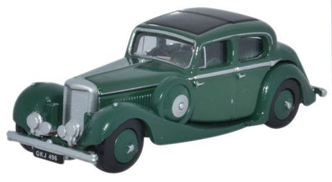 Oxford Diecast Suede Green SS Jaguar 2.5 Saloon - 1:76 Scale