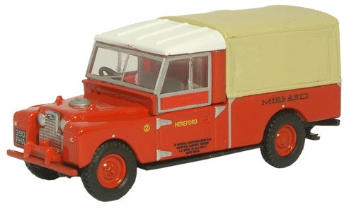 Oxford Diecast Midland Red Land Rover - 1:76 Scale