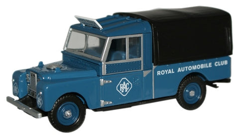 "Oxford Diecast RAC Land Rover 109"" Canvas - 1:76 Scale"