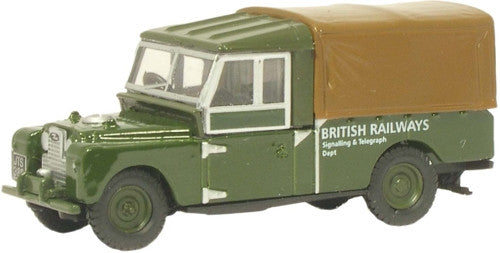 "Oxford Diecast British Railways Land Rover 109"""" Canvas - 1:76 Scale"