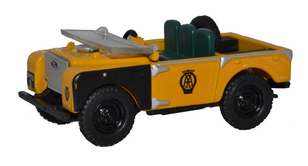 "Oxford Diecast Land Rover Series I 80"" Open Top AA"