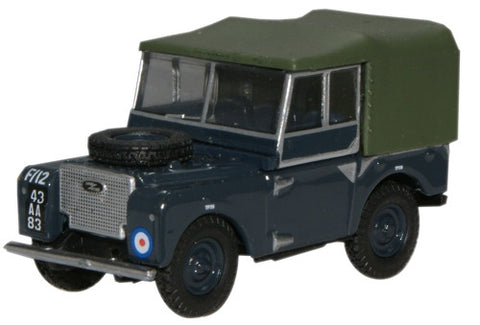 "Oxford Diecast RAF Land Rover Series I 80"" Canvas - 1:76 Scale"