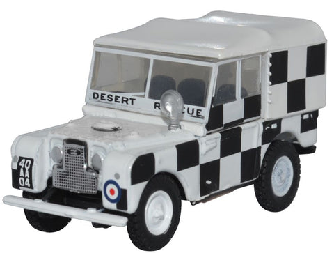 Oxford Diecast RAF Tripoli, Desert Rescue Team Land Rover Series I 80 inch wheelbase.