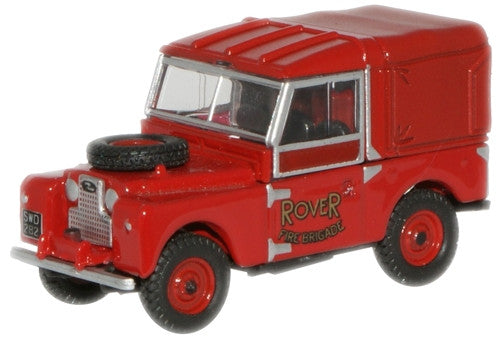"Oxford Diecast Rover Fire Brigade Land Rover 88"" Canvas - 1:76 Scale"