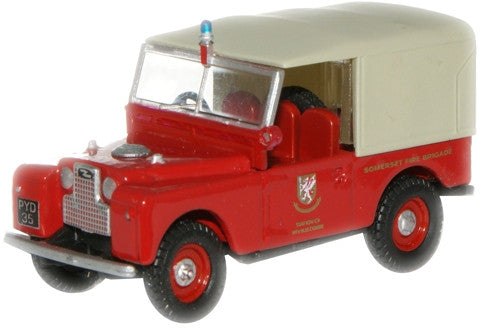 "Oxford Diecast Fire Brigade Land Rover 88"" - 1:76 Scale"
