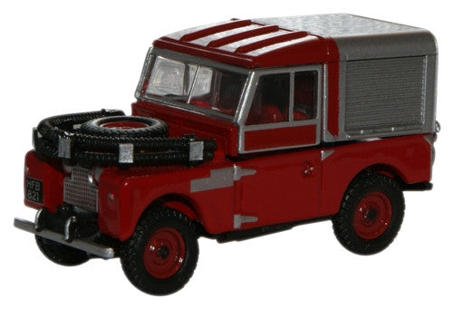 "Oxford Diecast Red Land Rover 88"" Fire - 1:76 Scale"
