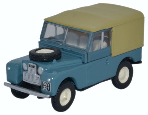 Oxford Diecast Land Rover Series 1 88 Canvas Marine Blue