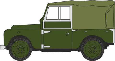 Oxford Diecast Bronze Green Land Rover Series I 88 Canvas