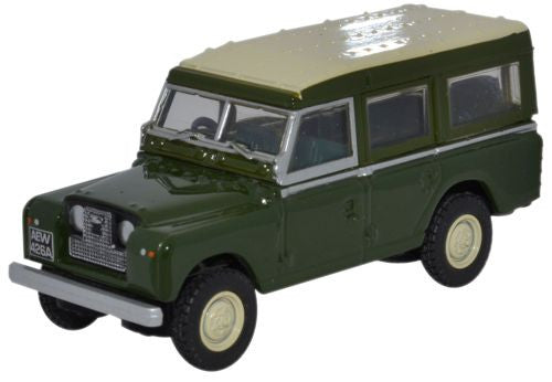 Oxford Diecast Bronze Green Land Rover Series II Station Wagon - 1:76