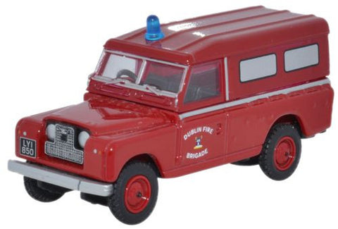 Oxford Diecast Land Rover Series II Dublin Fire Brigade - 1:76 Scale