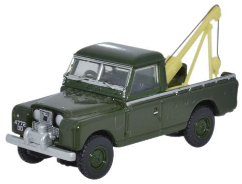 Oxford Diecast Land Rover Series II Tow Truck Bronze Green - 1:76 Scal