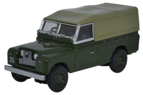 Oxford Diecast Land Rover Series II Canvas Back Bronze Green - 1:76 Sc