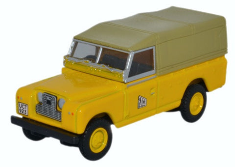 Oxford Diecast Land Rover Series II LWB Canvas JCB