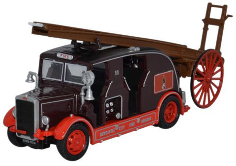 Oxford Diecast Leyland Cub FK7 Newcastle City Fire Brigade - 1:76 Scal