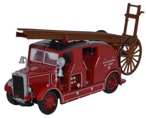 Oxford Diecast Leyland Cub FK7 City of Canterbury Fire Brigade - 1:76