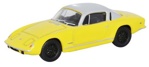 Oxford Diecast Lotus Elan Plus 2 Yellow/Silver - 1:76 Scale