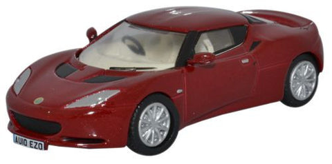Oxford Diecast Lotus Evora Canyon Red/Oyster - 1:76 Scale