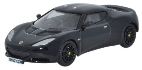 Oxford Diecast Lotus Evora Black - 1:76 Scale