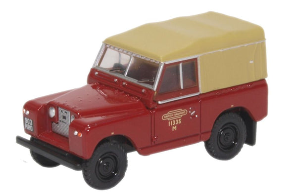 Oxford Diecast Land Rover Series II SWB Canvas British Rail