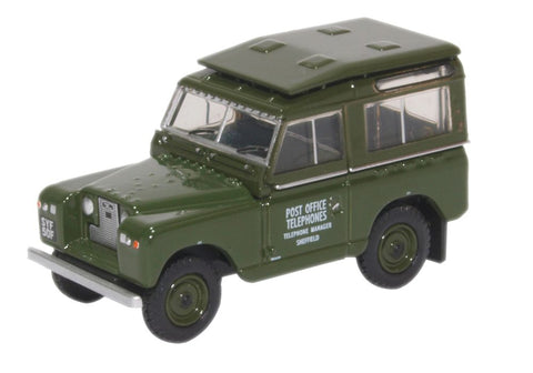 Oxford Diecast Land Rover Series Ii Swb Hard Top Post Office Telephone