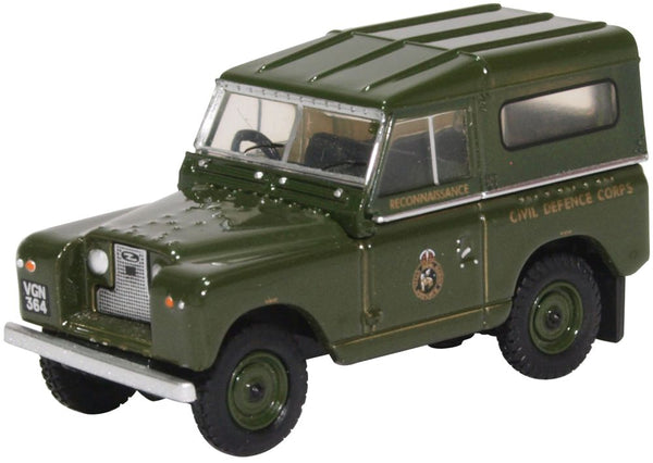 Oxford Diecast Land Rover Series II SWB Hard Back Civil Defence