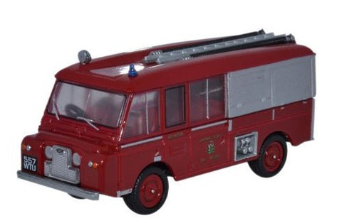 Oxford Diecast Land Rover FT6 Carmichael Cheshire County Fire Brigade