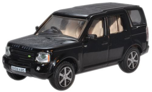 Oxford Diecast Santorini Black Land Rover Discovery - 1:76 Scale