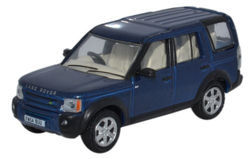 Oxford Diecast Land Rover Discovery 3 Cairns Blue Metallic - 1:76 Scal