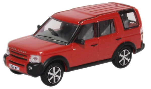 Oxford Diecast Land Rover Discovery 3 Rimini Red Metallic