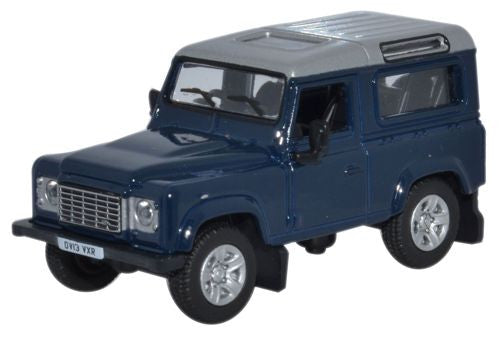 Oxford Diecast Land Rover Defender 2013 Tamar Blue - 1:76 Scale