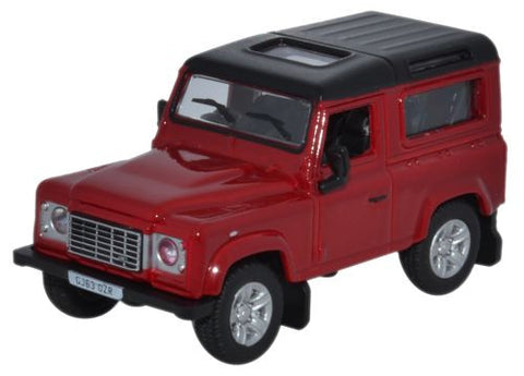 Oxford Diecast Land Rover Defender 90 Station Wagon Firenze Red - Sant