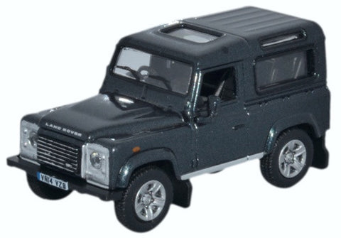 Oxford Diecast Land Rover Defender 90 Station Wagon Santorini Black