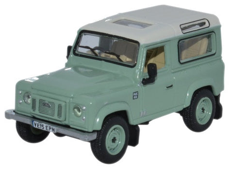 Oxford Diecast Land Rover Defender 90 Grasmere Green Heritage