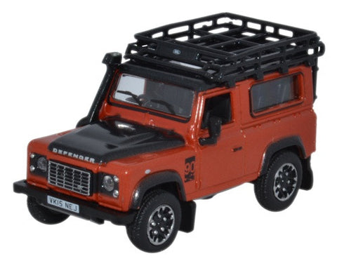 Oxford Diecast Land Rover Defender 90 Phoenix Orange Adventure