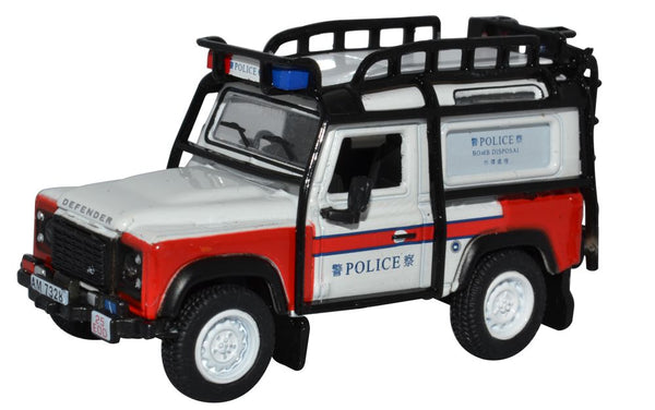 Oxford Diecast Land Rover Defender 90 Station Wagon Hong Kong Police