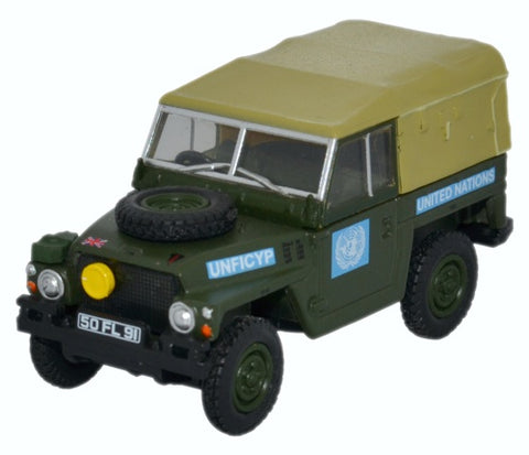 Oxford Diecast Land Rover 1/2 Ton Lightweight United Nations