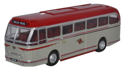 Oxford Diecast Leyland Royal Tiger Coach Lough Swilly - 1:76 Scale