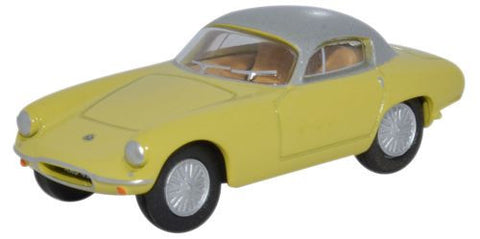Oxford Diecast Lotus Elite Sunburst Yellow/Silver - 1:76 Scale
