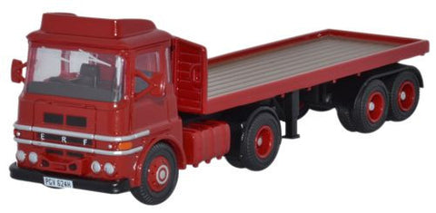 Oxford Diecast ERF LV Flatbed Red - 1:76 Scale