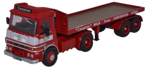 Oxford Diecast ERF LV Flatbed Trailer Carnation  - 1:76 Scale